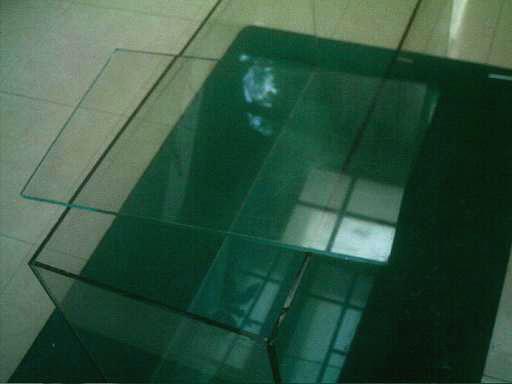 Renfort de la vitre de l'aquarium