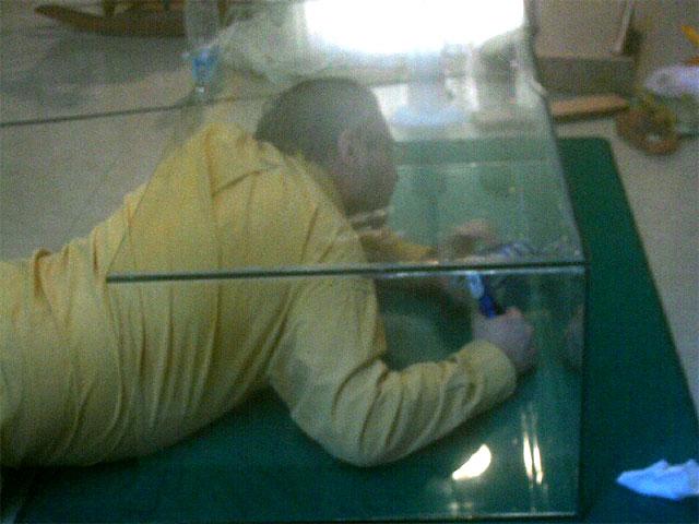Refaire les joints de l'aquarium